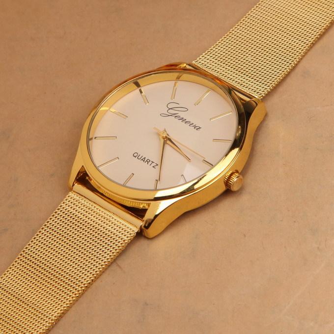 car gold watch stainless steel unisex quartz watch women fashion item specifics
