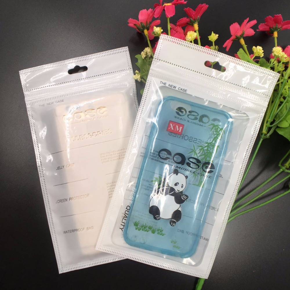 200pcs/lot Mobile Phone Case Cover Retail Packaging Package Bag for iPhone 4 4S 5 5S 6 7 Plus Plastic Ziplock Poly Party White(China (Mainland))