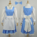 Beauty And Beast Belle Maid Dress Cosplay Costume 2016 New Party Halloween Uniforms For Woman Girls