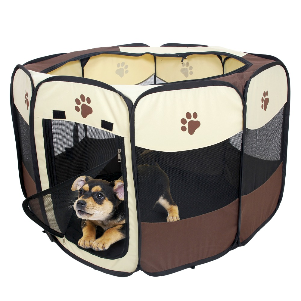 Pet Bed House Puppy Rabbit Cat Cage Folding Fence Garden Crate Run Dog Kennel Play Pens Outdoor Indoor Products(China (Mainland))