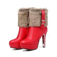 2017 tamaño Grande 30-48 Botas de Nieve Botas Mujer Botines de Moda marca Baja Talones Atractivos Otoño Invierno Para Mujer Zapatos de Nieve 5203-1(China (Mainland))