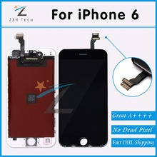 10PCS/LOT Mobile Phone Parts For Pantalla iPhone 6 LCD Touch Screen AAA For iPhone 6 LCD Display Replacement Free DHL Shipping(China (Mainland))