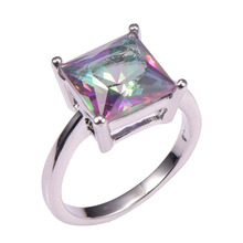 Stile classico rosa arcobaleno topaz 925 sterling silver wedding party fashion design  Romantico ring size 5 6 7 8 9 10 11 12 pr38(China (Mainland))