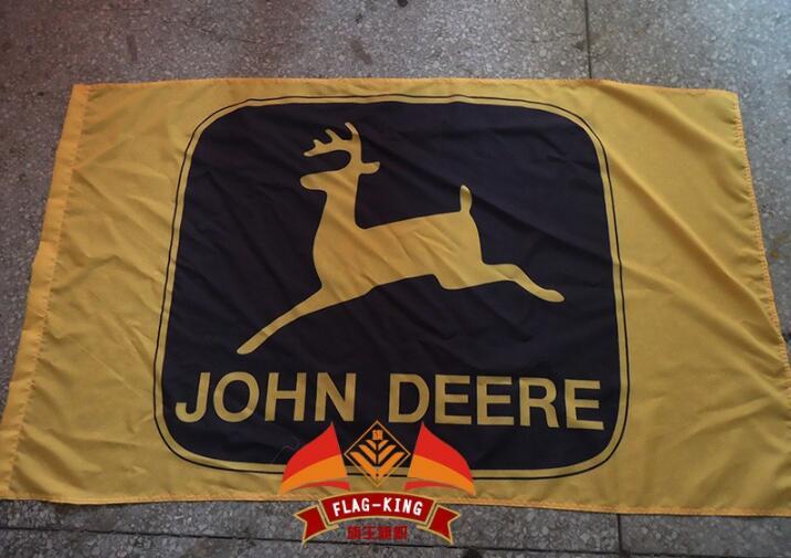 Jone deere logo flag,Jone deere yellow club flag, 90*150CM polyster(China (Mainland))