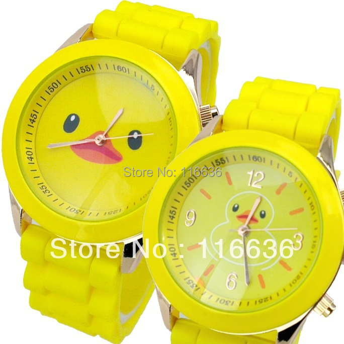 10  Duck Watch  Silicone women watches analog quartz  wristwatches casual dress young girls new 2014 wholesale LOT<br><br>Aliexpress