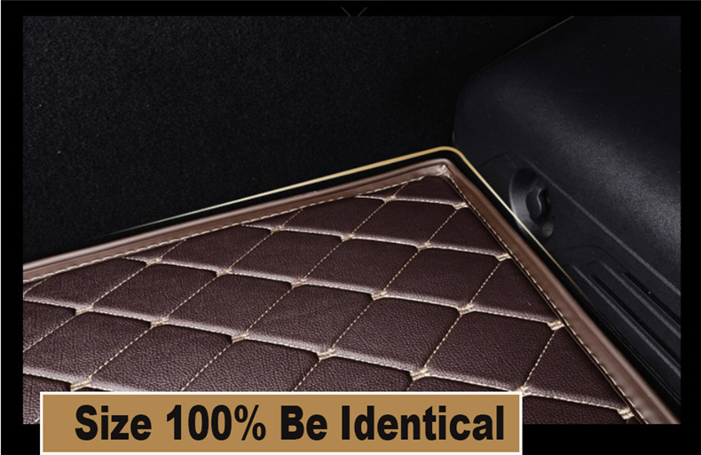 Car Cargo Liner Trunk Mats For Chevrolet Equinox 2017.2018 Auto Boot Mat High Quality New Embroidery Leather Free shipping