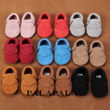 2016 New Genuine Leather suede Baby Moccasins shoes bow Soft sole Moccs Baby Shoes first walker Anti-slip Infant Shoes Footwear(China (Mainland))