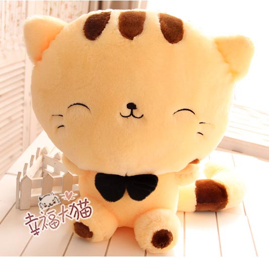 25cm Big Face Cat Plush Doll large face cat Plush Stuffed Toys pillow birthday gift Cushion Fortune Cat Doll(China (Mainland))