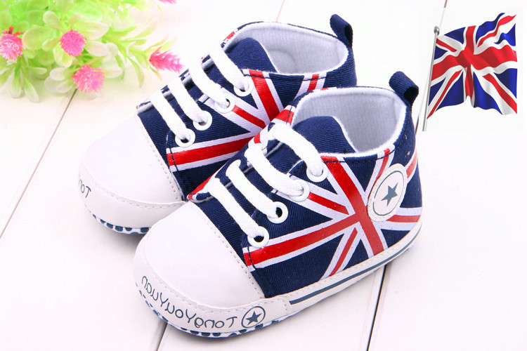 2015 New Born Baby Shoes UK Flag Style England Summer Baby Shoes Slip-on Shoe for Baby Boys Girls Toddler Crib Shoe Prewalker(China (Mainland))