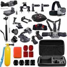 GoPro accessories Set Shockproof Bag Phone Holder J-Hook Mount suction cup for Go pro Hero 4 3+ 2 1 xiaomi yi sj4000 camera GS48