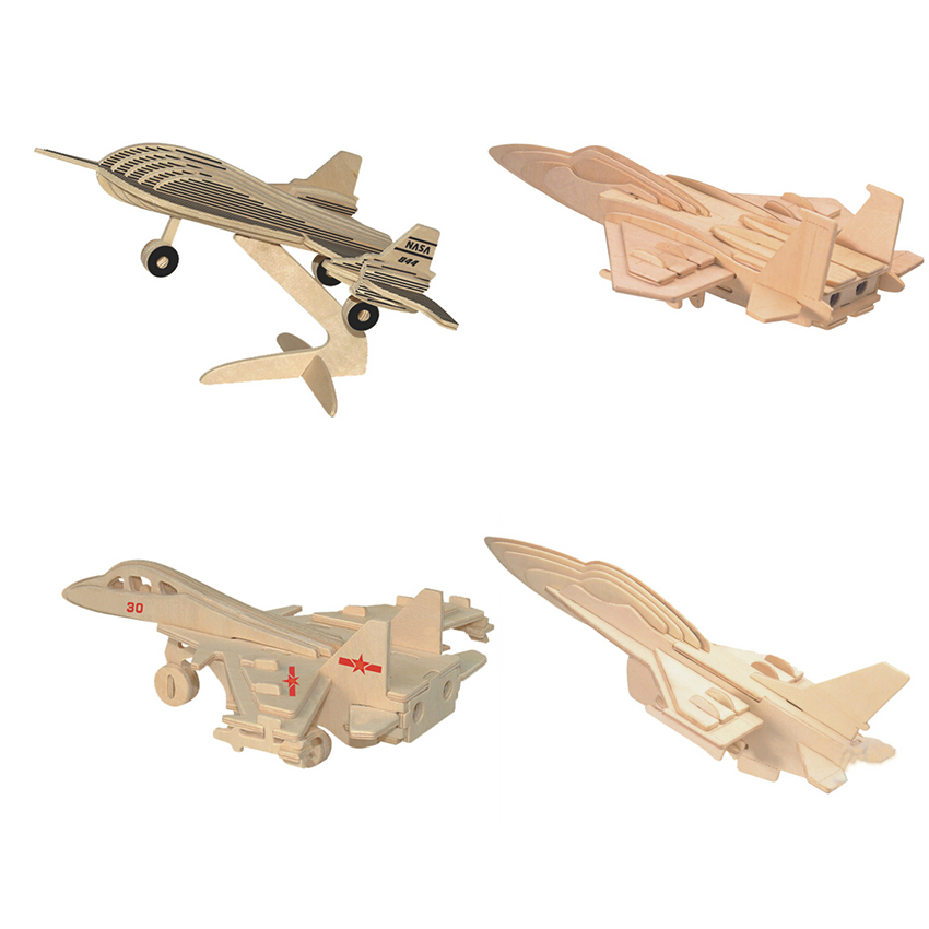 3d puzzle jigsaw wooden toys aircraft plane helicopter model juguetes educativos Games for children educational toys for adults(China (Mainland))