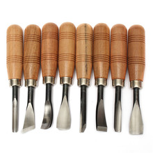 The Best Price 8Pcs Woodpecker Dry hand Wood Carving Tools Chip Detail Chisel set Knives tool(China (Mainland))