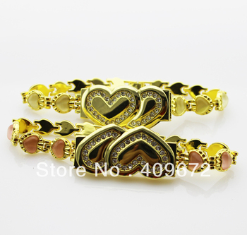 Retail genuine 2G/4G/8G/16G/32G usb drive memory usb flash drive double heart bracelet jewelry Free shipping+Drop shipping