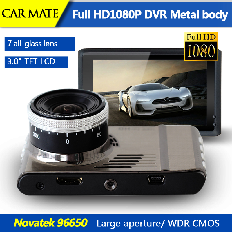 3.0' LCD New Metal body Car dvr Novatek 96650 full hd 1080p car dvrs video camera Recorder 170 degree wide angle /Large aperture(China (Mainland))