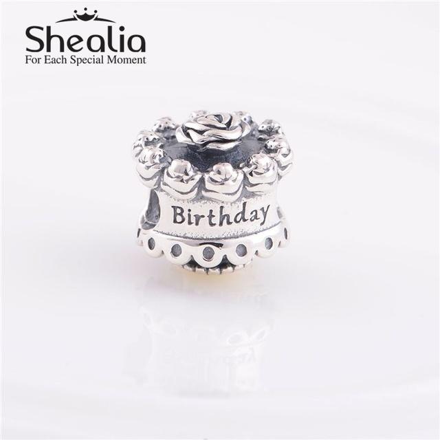 Стерлингового серебра 925 с днем рождения торт подвески темы DIY изготовления ювелирных изделий подходит известный бренд DIY шарм браслеты дизайн