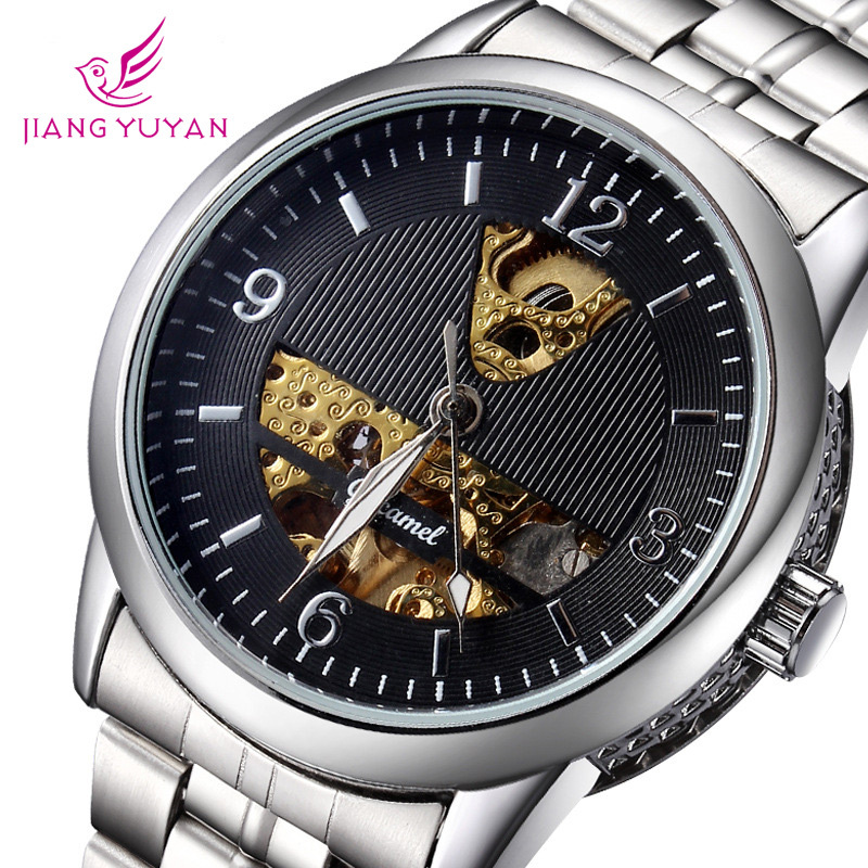 Гаджет  Top Selling Coupon Men Watches Luxury Brand Wristwatch Crystal Mirror Leather Strap Watch Mens Casual Watch None Часы