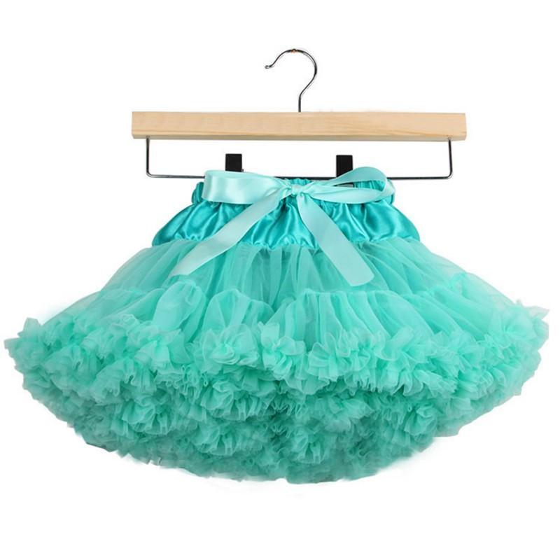Оптовая продажа 0-10Y детей ребенка девочки многослойные тюль ну вечеринку танец торт юбки
