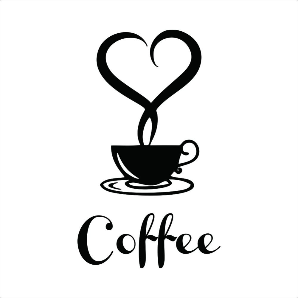 Coffee shop Restaurant wall decor decals home decorations 361 kitchen removable vinyl wall art diy decorative sticker(China (Mainland))