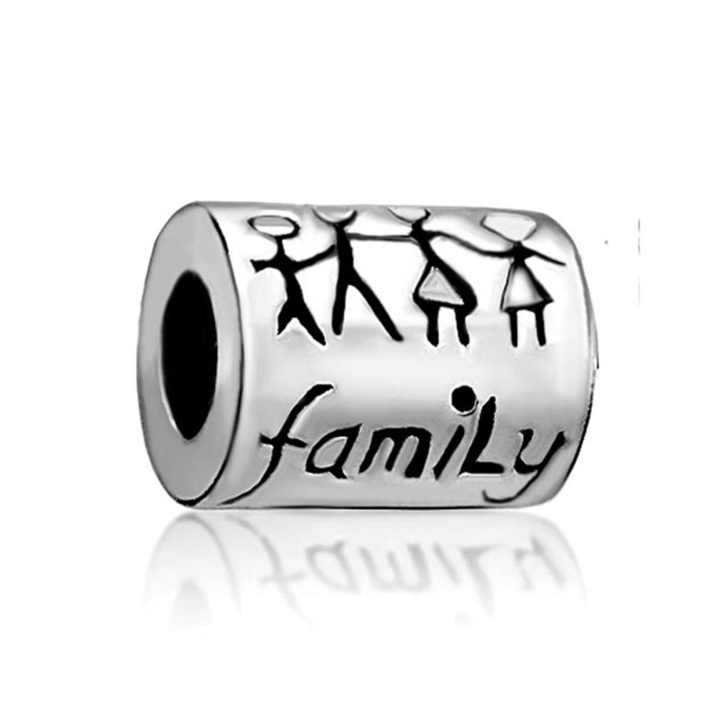 Long tube family Charm Fit for Pandora Bracelet(China (Mainland))