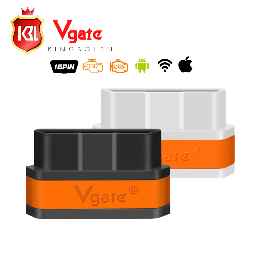 Good Quality Vgate Wifi iCar 2 OBDII ELM327 iCar2 wifi vgate OBD diagnostic interface for IOS iPhone iPad Android 8 color(China (Mainland))
