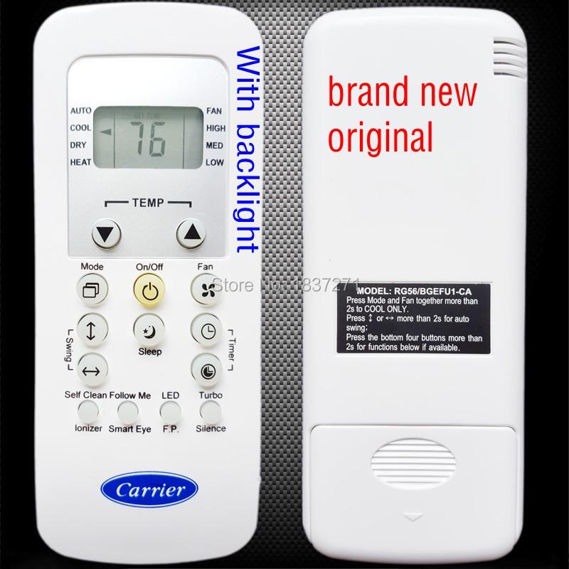 New Original remote control RG56/BGEFU1-CA for carrier air conditioner(China (Mainland))