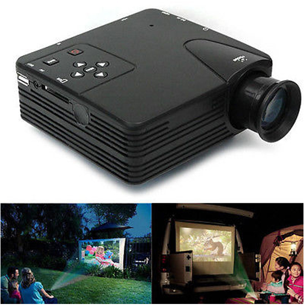 Hot sale lz h80 portable led projector with hdmi av vga sd for Hdmi mobile projector