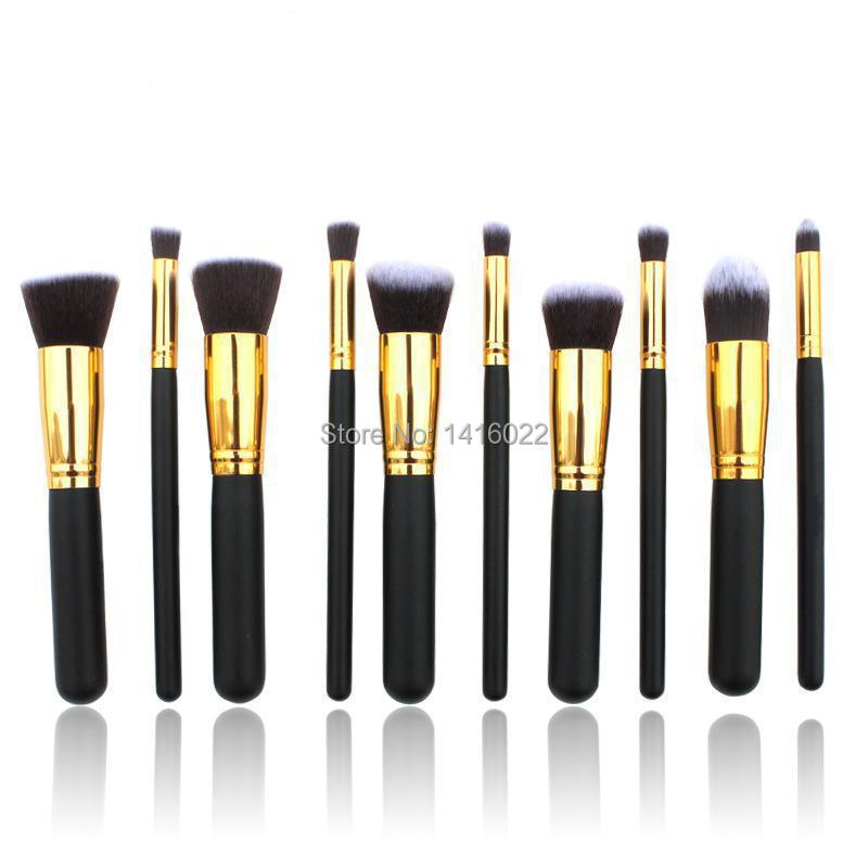 10pcs Professional paintbrushes of Makeup Brushes Set Foundation hand to make up Eyeshadow for mac Makeup Tools accessories(China (Mainland))