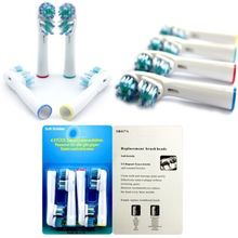 Details about New 4pcs Electric Tooth Brush Replacement 2 Heads for Braun Oral B Dual Clean LH