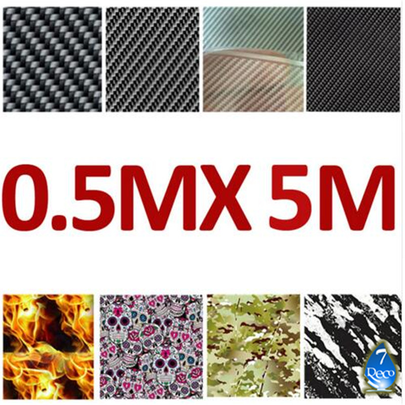 [FOR 1 PATTERN] 0.5MX 5M Water Transfer Printing Film Purchase Here, Hydrographic Dipping Film, Carbon Fiber/ Skull/ Flame/ Wood(China (Mainland))