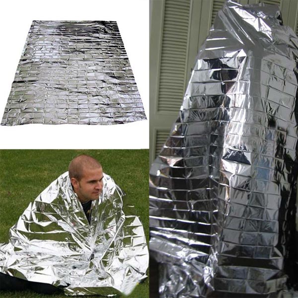 Newest Hot Sale Silver Emergency Mylar Rescue Space Thermal Blankets Portable Waterproof Outdoor Life-saving Curtain(China (Mainland))