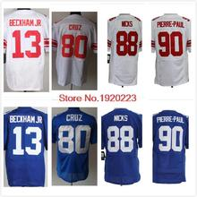 Odell Beckham Jr Jersey 10 Eli Manning Jason 13 NY Elite Jersey Pierre Paul Jersey 80 Victor Cruz American Football Jersey Cheap(China (Mainland))