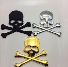 Car Styling 3D skull Skeleton metal sticker kia RIO K2 K3 K3S K4 K5 Sportage Forte SORENTO CERATO Soul Ford Focus VW POlo - AAAAAAAAAAAA store