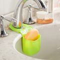 Creative Kitchen Sink Waterproof Sundries Storage Basket Bathroom PVC Hanging Bag Drain Organizer Rangement Cuisine SN016