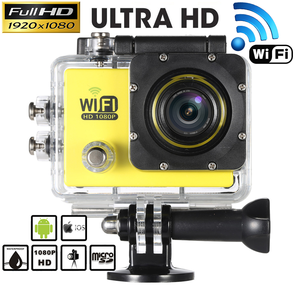 "Full HD 1080P 30FPS Wifi Action Camera 2.0"" LCD 12MP 4X Zoom 140D Wide-Lens Sports DV Mini Camera Video Camcorder Car DVR FPV(China (Mainland))"
