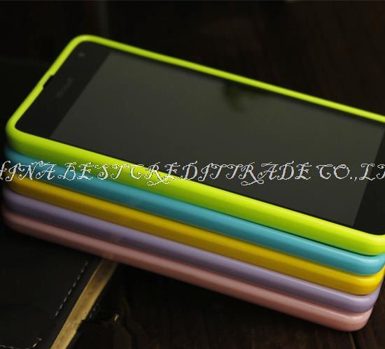 Luxury colorful del Soft TPU Gel Case For NOKIA LUMIA 535 N535 MICROSOFT LUMIA 535 Phone Back Cover Bag 9 colors()