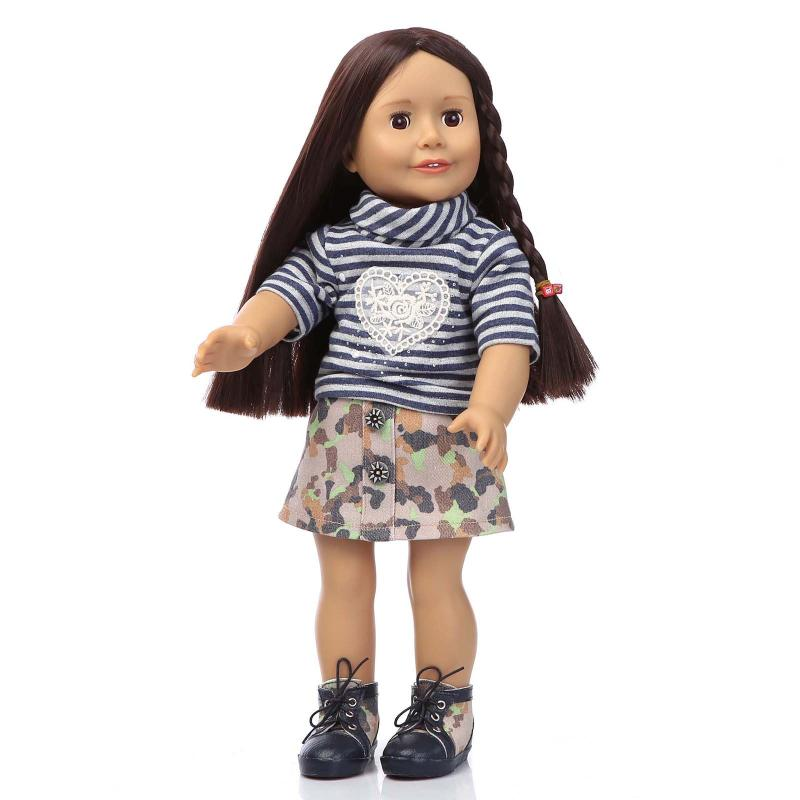 2016 NEW fashion Lifelike Baby 18 18 Inch american girl Doll with clothes shoes Play toys reborn baby treasured dolls RW53<br><br>Aliexpress