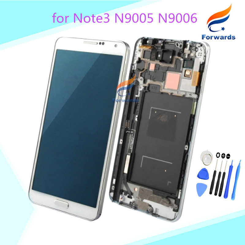Replacement for Samsung Galaxy Note 3 N9005 N9006 LCD display touch screen digitizer with frame assembly