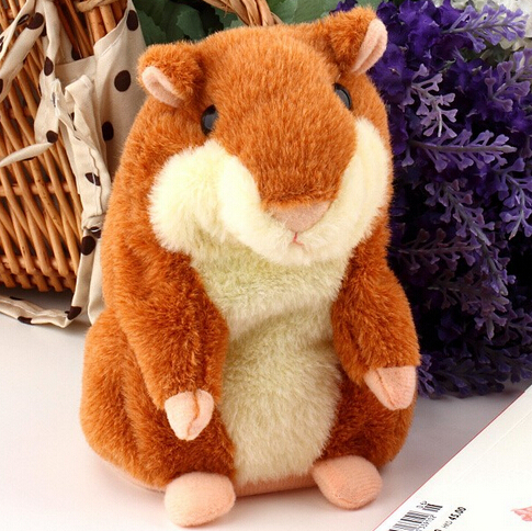 2014 New Hot Lovely Talking Hamster Plush Toy Hot Cute Speak Talking Sound Record Hamster Toy Animal Free Shipping Wholesale(China (Mainland))