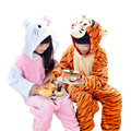 Super Soft Children s Cartoon Animal Flannel Pajamas for Boys Girls Pijamas pink KT cat tiger