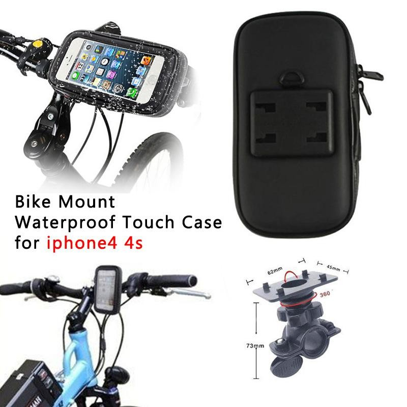 20pcs/lot Motorcycle Bike Handlebar Mount WaterProof Case For iphone 3GS 4 4G 4S 5 5c 5G 5s samsung s3 DHL(China (Mainland))