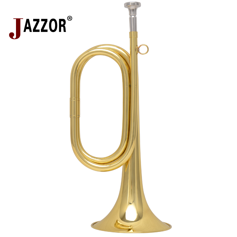 New professional JAZZOR Bugle JZBG-300 to Great Trumpet Gold Lacquer trompette with bugle case and original mouthpiece trompeta(China (Mainland))