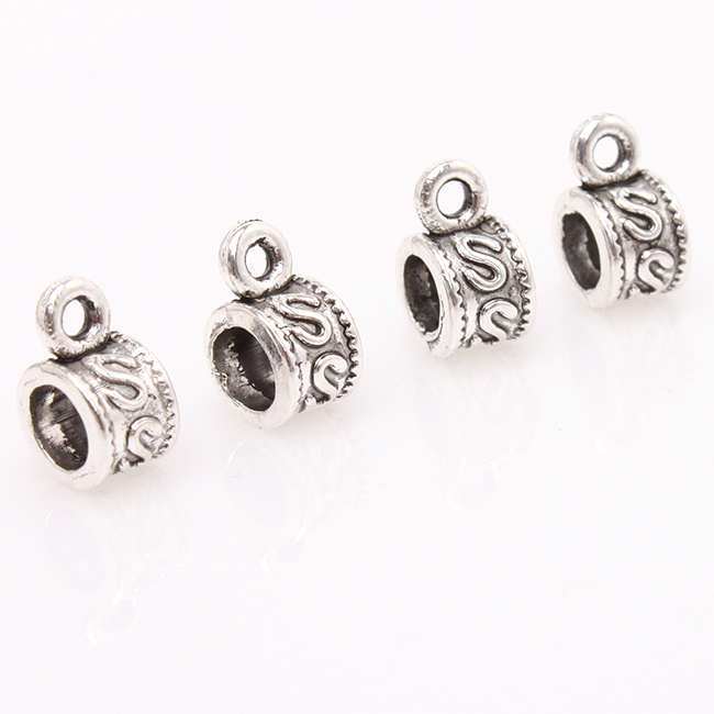 """300pcs/lot New Arrival Antique Silver Annular """"S"""" Plated Big Hole Beads Fit DIY Jewelry 153541(China (Mainland))"""