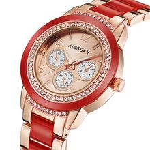 2016 new women rhinestone watches fashion quartz watch+women dress watch luxury brand Bracelet designer watches+relogio feminino