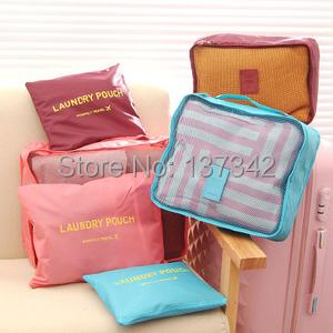 Free Shipping~~~Waterproof clothes travel bag set business travel clothing underwear Organizer Bag(China (Mainland))