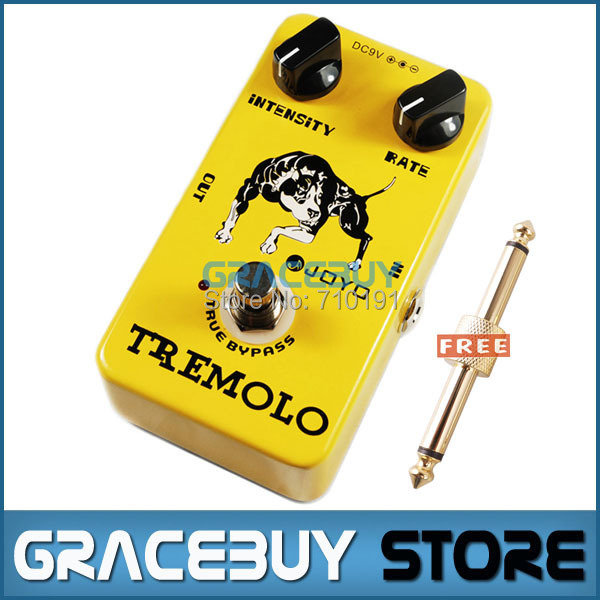 JOYO JF-09 Electric Tremolo Guitar AMP Effect Pedal Bybass Photoelectric Tube Circuit Dynamic Compression