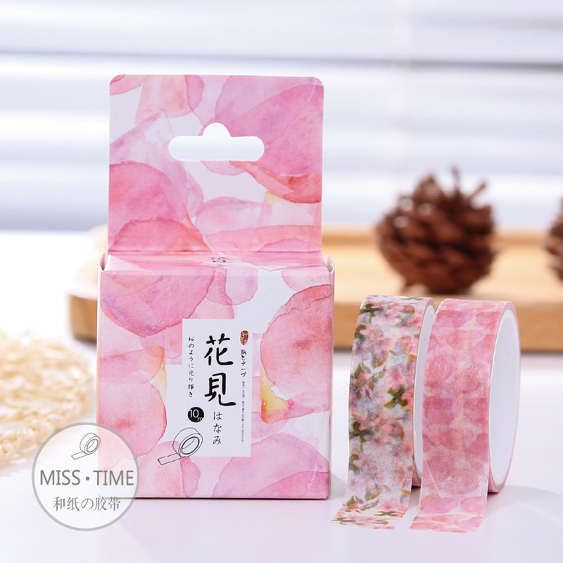 2 pcs/box Dream flower washi tape DIY album decoration seal masking tape kawaii stationery scrapbooking tools(China (Mainland))