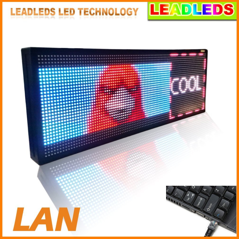 """32 * 96 pixe LED Video Display Screen Billboard - Fast Program By Tcp/ip .30"""" X 11"""" led advertising led sign(China (Mainland))"""