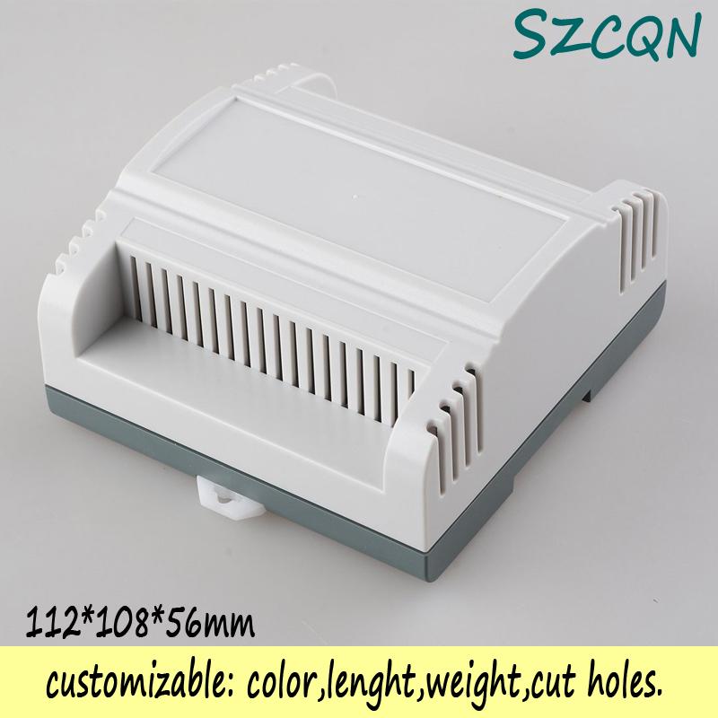 () plastic box electronics din rail enclosure junction ABS fireproof materials 112*108*56mm - QN-Enclosure Technology CO.,ltd store