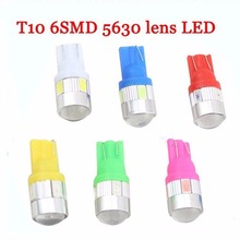 T10 cars in wide light licence light LED T10 5630 6SMD power highlighted traffic light W5W small lights(China (Mainland))