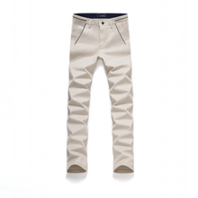 Casual Men Pants New Fashion Zipper Fly Straight Men Trousers Casual Style Mid Cotton Slim Brand 2016 Pant Trouser Men XY8757